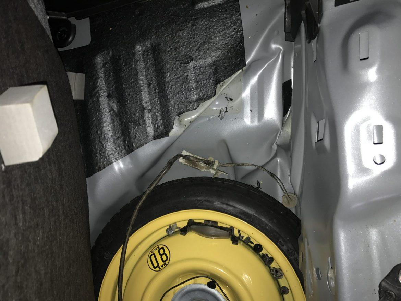 Мазда 2 частичная замена задней левой части авто
