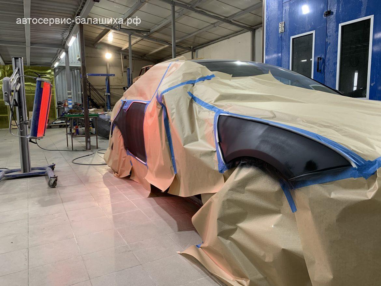Ягуар XF 3.0D 2014 кузовной ремонт.