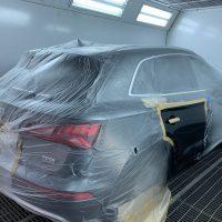 AUDI Q5 2017 2.0L tsi кузовной ремонт.