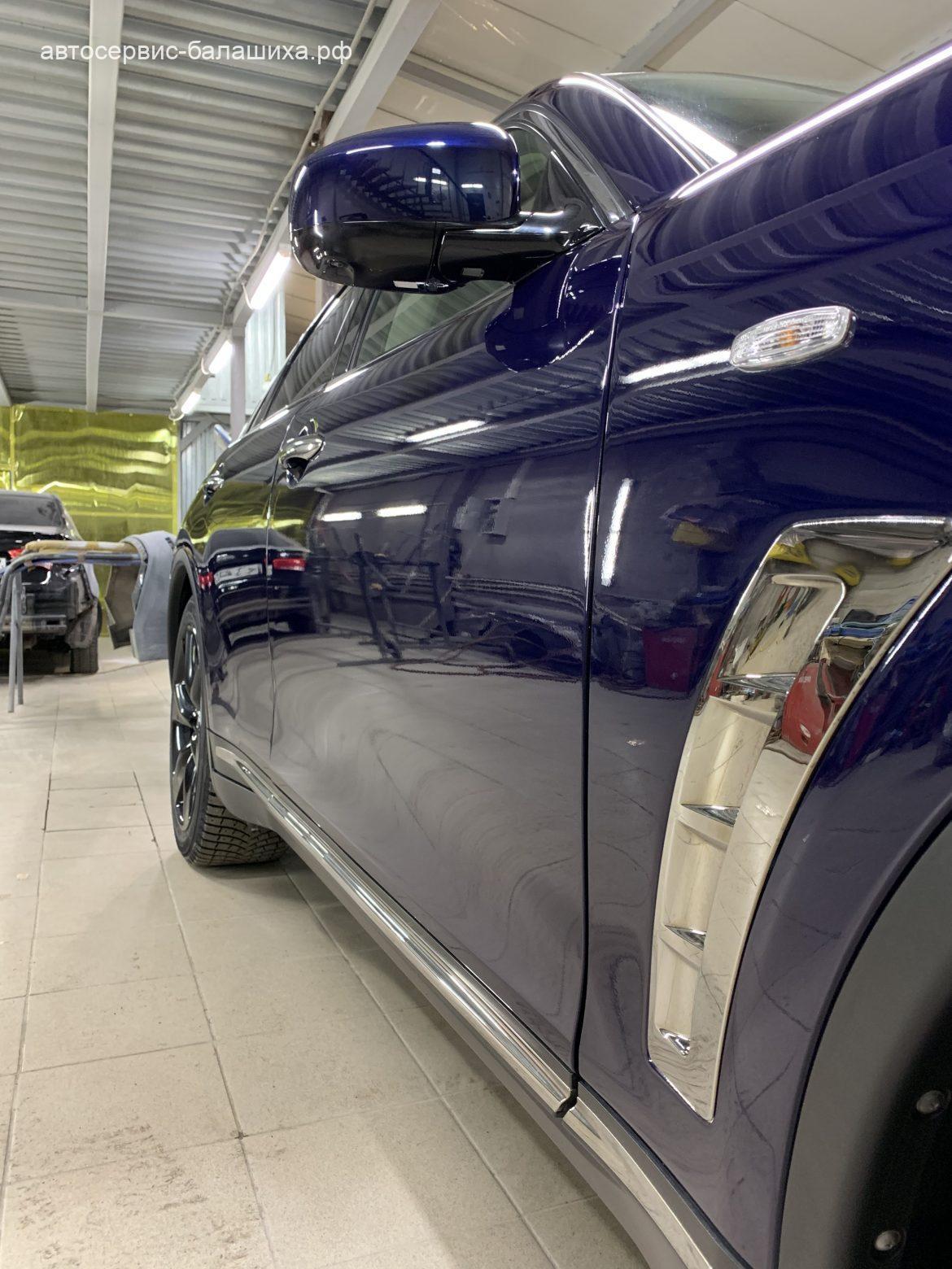 Инфинити QX70 3.7L 2013  кузовной ремонт и полировка кузова