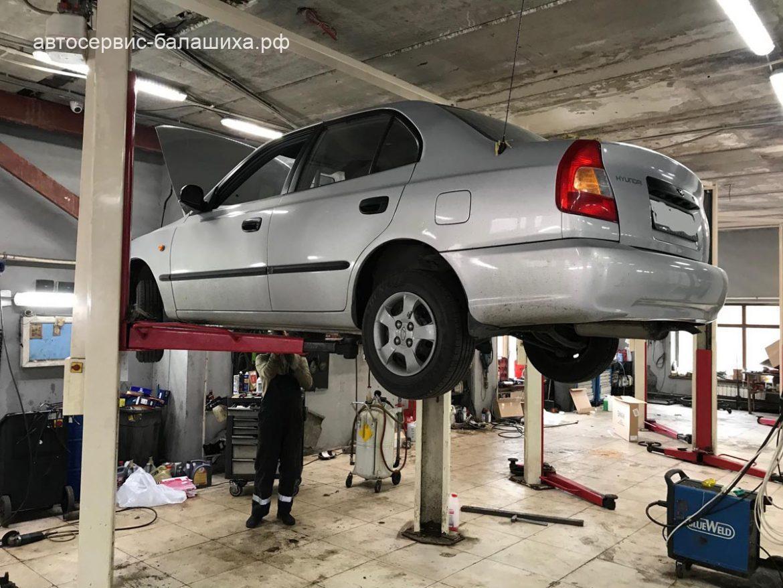 Hyundai accent замена гофры и удаление катализатора
