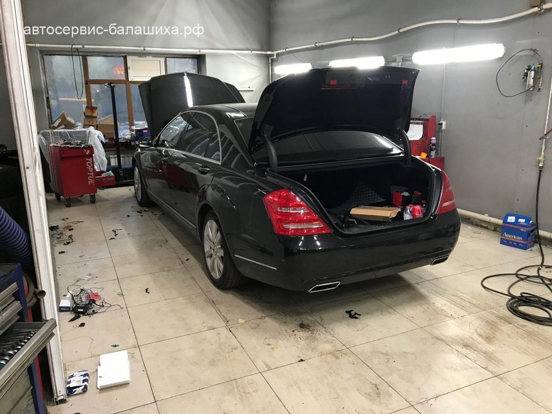 Mercedes benz s500 замена компрессора кондиционера и осушителя
