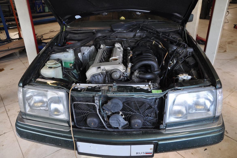 Mercedes E320 Sportline cupe 3.2 AT 1993 ремонт ДВС