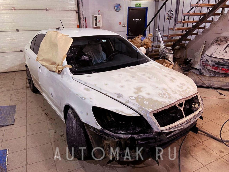 SKODA OCTAVIA RS 2012 2.0 Turbo кузовной ремонт
